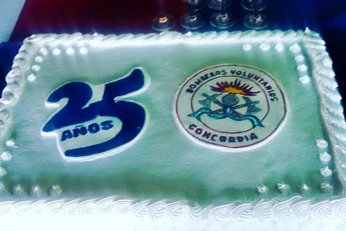 25 años de la creación de Bomberos Voluntarios de Concordia