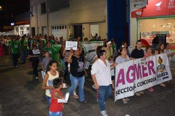 Marcha de la Multisectorial Concordia contra los tarifazos
