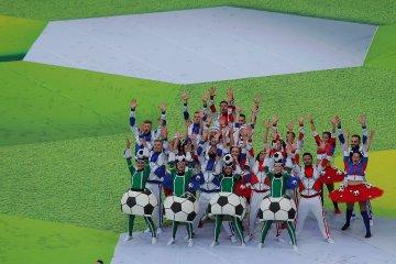 Las mejores postales que dejó la apertura del Mundial de Rusia 2018