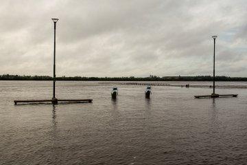 El río se apoderó de la costanera de Concordia