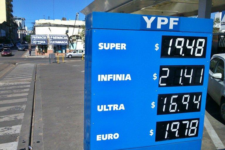En Concordia las naftas de máxima calidad quedaron en un precio promedio de $22