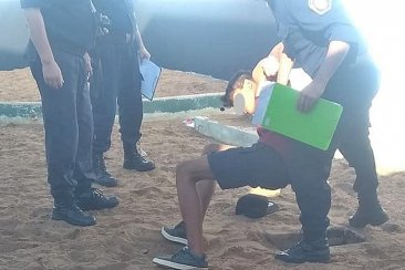 Un joven intentó robar un comedor comunitario y terminó dentro de una casilla de gas