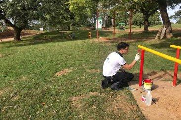 El Parque San Carlos remoza su circuito de espacios saludables
