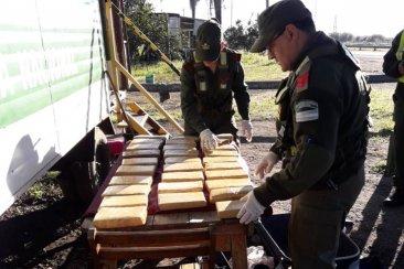 Gendarmería decomisó 108 kilos de marihuana durante el fin de semana
