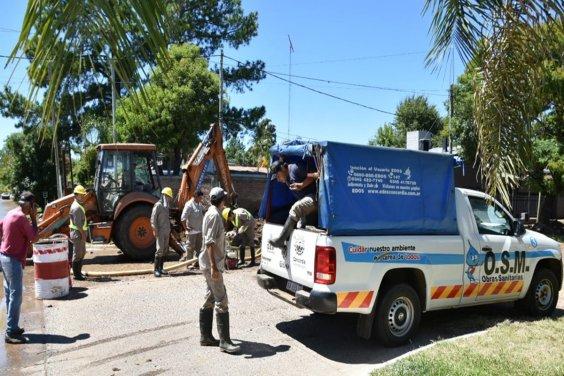EDOS reparó el caño dañado y se restablece con normalidad el servicio de agua